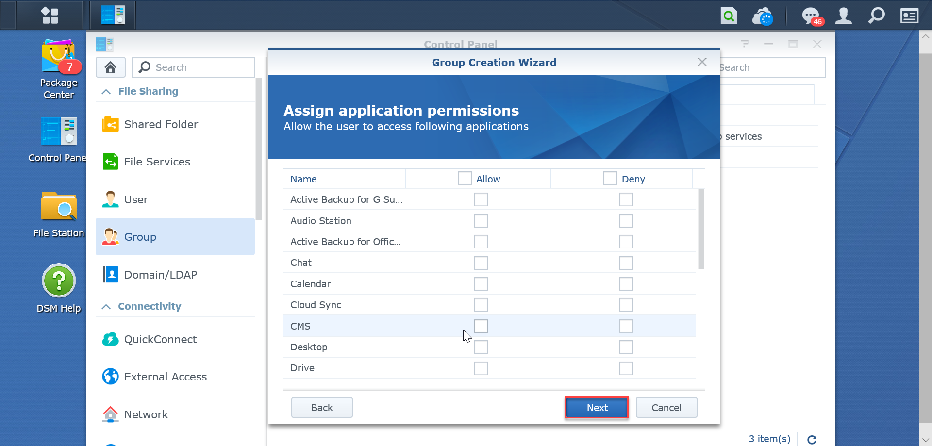 Assign-application-permissions-SynologyNAS-synologyvietnam.vn