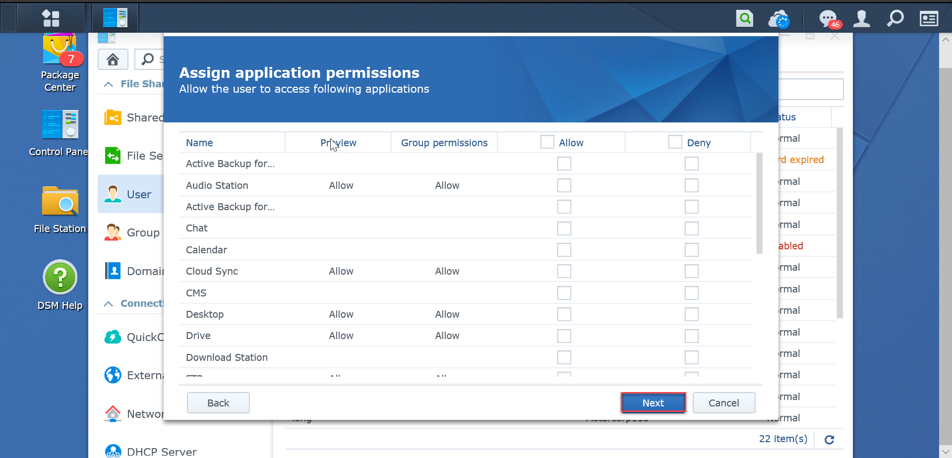 Assign-application-permission-SynologyNAS-synologyvietnam.vn