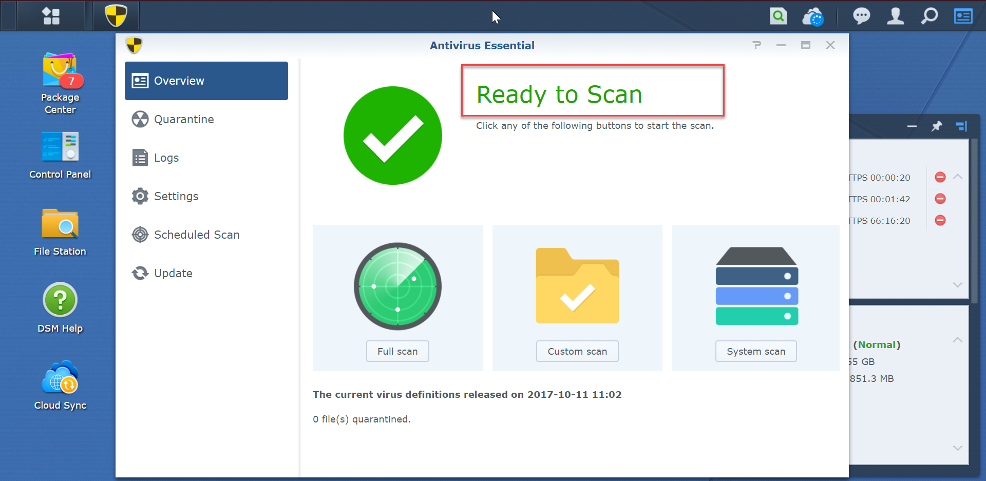 Ready-to-scan-Antivirus-Essential-SynologyNAS-synologyvietnam.vn