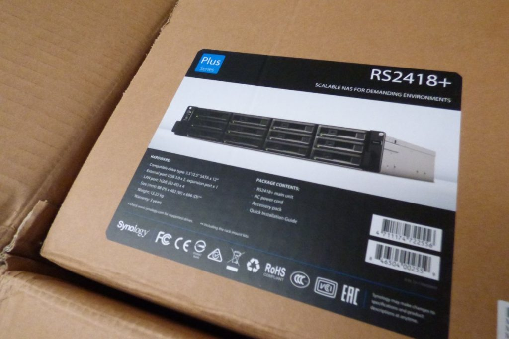 Vỏ hộp NAS Synology RackStation RS2418+