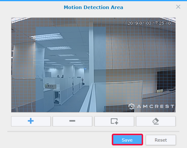 Edit Motion Detection Area