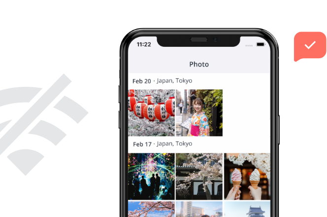Browse photos on the move