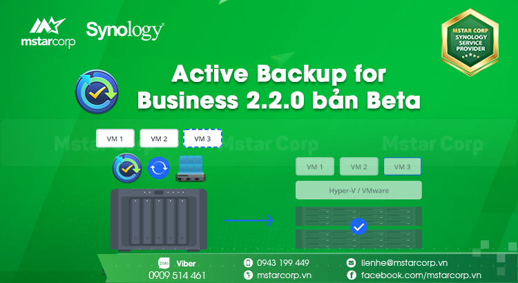 Active Backup for Business 2.2.0 bản Beta