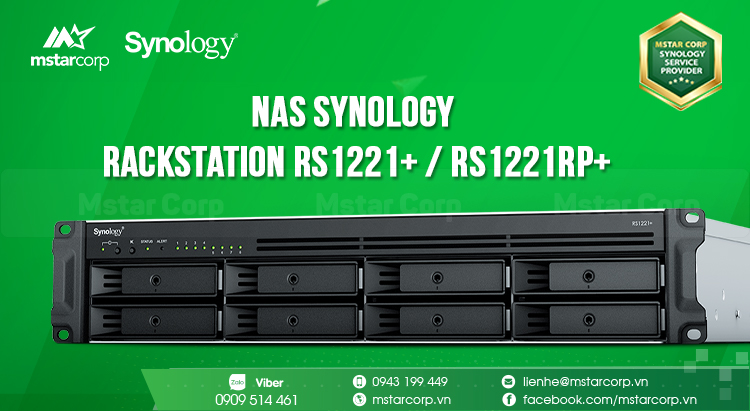 NAS Synology RackStation RS1221+ / RS1221RP+