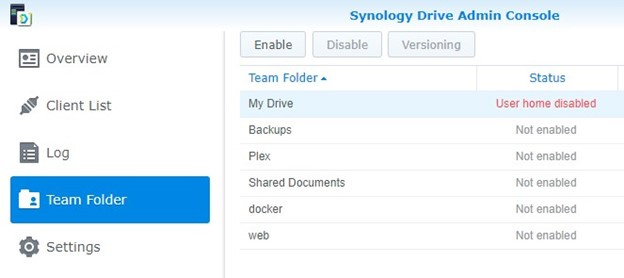 Synology Drive Admin Console
