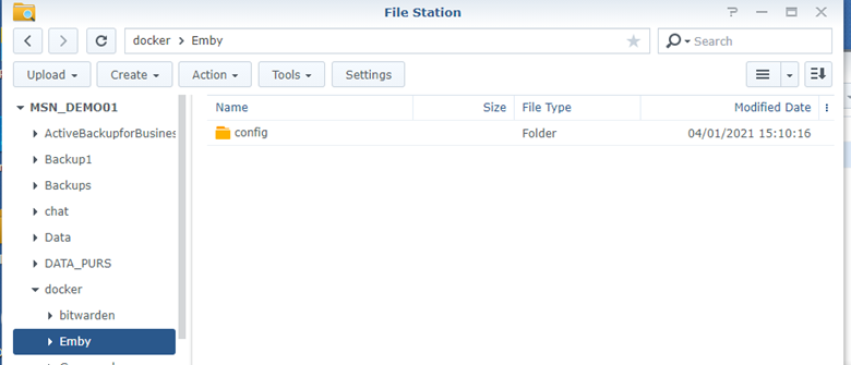 Synology NAS Emby