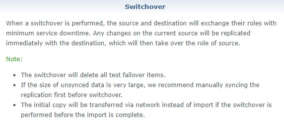 switchover